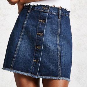 Navy Denim Skirt